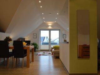 Attractive Studio m. Balcony and own e-bikes in Memmelsdorf near Bamberg
