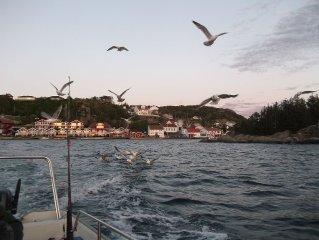 Fischerhutte direkt am Meer mit traumhafter Aussicht auf die Kustenlandschaft
