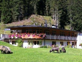 komfortable Ferienwohnung fur 6 Personen in Tux mit wunderbarer Aussicht