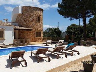 Torre al Mar: Meerblick-Finca mit Pool 150m zum Strand, 8-10 Pers, neu renoviert