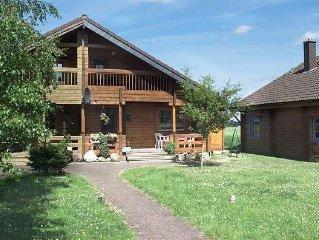 gemütliches finnisches Blockhaus mit Sauna, Kaminofen; Nähe Schlei u. Ostsee