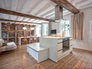 Bleibe Fachwerkhaus aus dem 18. Jhdt., modernes Design, Flusszugang in Monschau