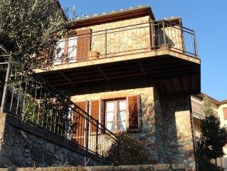 Wunderschönes Natursteinhaus  in der Toskana mit Terrasse und Balkon.