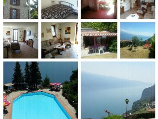Fewo 'Rustico' am Gardasee/Limone,Garten,70 qm,5 Pers m. Poolzugang,Hund erlaubt