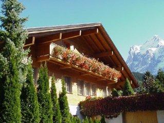 Gemutliche Ferienwohnung mit direkter Aussicht in die Eigernordwand