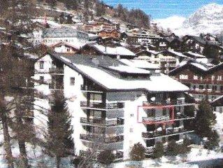 Ferienwohnung in Saas-Fee - neben den Bergbahnen (Saisonabo ab 222.-!)