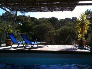 Weisse Villa im Grünen mit Pool und Sauna, Strandnah