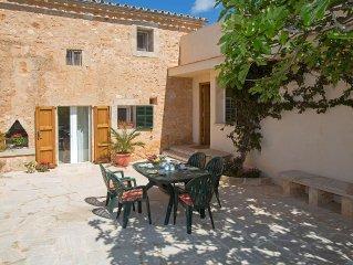 Luxury villa 'Son Coves Petit', pool, terraces, patio, AirC., Close to Es Trenc