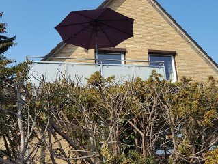 Sonnendurchflutete, strandnahe FeWo, 3 Schlafz, Balkon/ Terrasse 2-5 Pers, ganzj