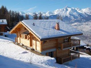 Grosses komfortabeles Chalet mit Aussicht auf Sion in der Quatres Valleés