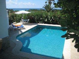 Strandnahe Villa, Meerblick, gr.Terrasse,Garten, Privatpool, Klimaanlage,W-Lan