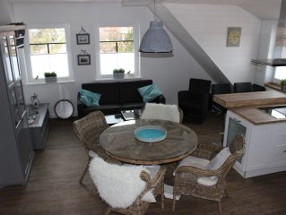 Exclusive Wohnung mit großer Dachterrasse in Strandnähe mit Sauna