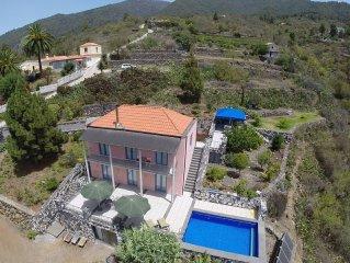 Villa Buena Vista, sonnige Westseite der Insel, Atlantikblick, beheizbarer Pool
