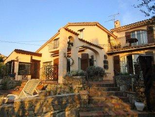 2-Zi-Wohnung mit Pool in idyllischer, ruhiger Lage im Olivengarten nahe Cannes
