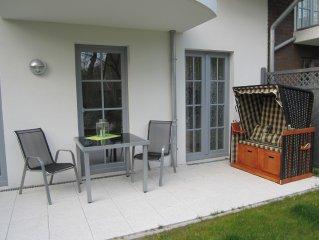moderne Erdgeschosswohnung fur 2  Erw. mit 2 Kinder und grosser Sonnenterrasse