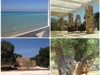 Stilvolle Villa mit tollem Blick über Olivenhaine aufs ionische Meer