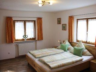 Neue Fewo ' Sulzbergeck' liegt sehr sonnig und ruhig mit 2 getr. Schlafzimmern