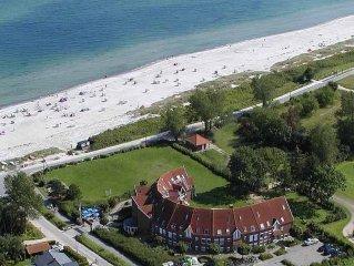 Appartement mit Meerblick direkt am Strand (40m!) mit eigenem STRANDKORB!