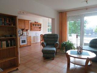 FeWo, priv. Sauna, W-Lan, 70 m², Südbalkon, Garage, ruhig im Ort, nahe Bocksberg