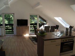 NEU! Renovierte 100 m² Ferienwohnung mit Balkon und Bachblick