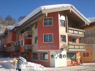 Top Lage, schönes Haus versprechen einen angenehmen Urlaub in Saalbach