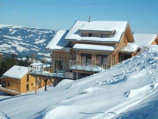 Wohlfuhl Luxus Chalet uber den Wolken des Lavanttals zum Skifahren und Wandern
