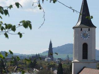 In 30 m Entfernung: Blick auf Münster u. Schönberg