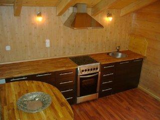 Modernes Holzblockhaus mit aussergewohnlichem Wohnklima. Auszeichnung 4 Sterne