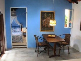 Schönes kleines Ferienhaus mit Privatsteg zum Meer in Santo André.