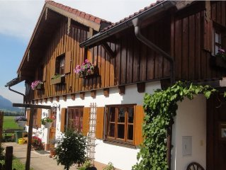 Cozy apartment for 2 (-3) persons in the beautiful Allgäu