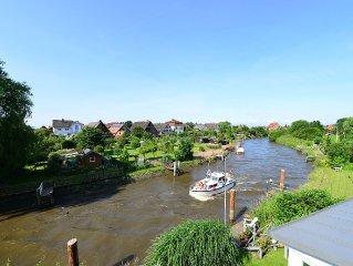 Deichkronchen – direkt an der Este – einzigartiger Blick auf den Fluss