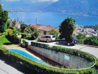 Sonniges  ruhiges Appartement mit traumhaftem Seeblick  u.  Garten  in Locarno