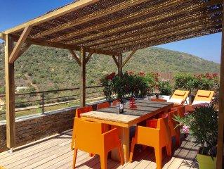 Neues, modernes Steinchalet mit grosser Terrasse und grossem Pool (Rondinara)