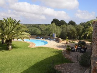 Romantic finca Castell with a large pool near Cala Mondrago on 16000 m²