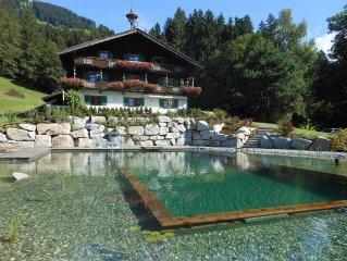 Bauernhof auf Sonnenplateau*Grosses Appartement*10-12 Pers.*NEU*Schwimmteich