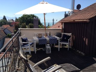 Cozy, comfortable, 1 Bedrm,  Lvrm, Full Kit, Rooftop Terrace w. lakeview, 2 Pers