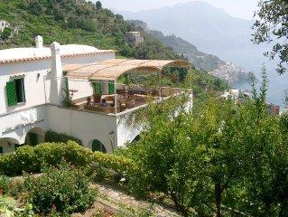 Typical Villa at unique coast with unspoilt sea view