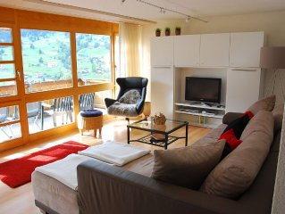 Comfortable, peaceful apartment with a view of the Eiger's northern face