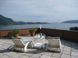 Studio mit atemberaubendem Ausblick auf den Lago Maggiore, inkl. 1 PP ged.