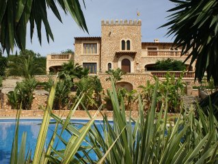 Mit Pool und Meerblick nahe Son Servera, Costa de los Pinos,  Arta