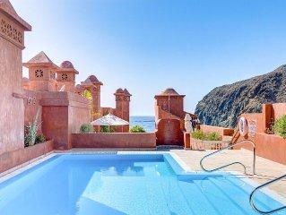 Luxus-Appartment m. schönem Blick auf Meer und La Gomera, große Süd-Terrasse