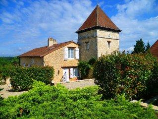 Exkl. Ferienhaus,Pool,grosser Garten,romantisch,Natur pur, Dordogne,Haustiere