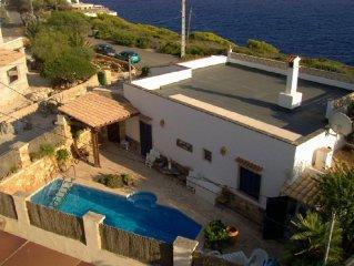 Terrasse mit großartigem Meerblick, Innenhof mit Pool, Heizung