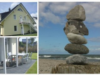 200m to the beach, beautiful Ostsee-terrace apartment, natural beach and waves
