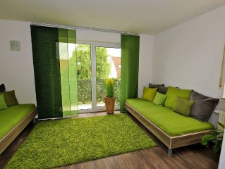 Quiet apartment on Etter Mountain only 3km to the old town of Weimar
