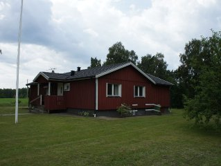 large top equipped house in a secluded location with boat in sea area Fegen