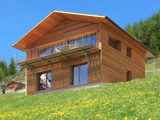 Exclusive design chalet on 1 800 meters, 4-6 pers., New building, above Törbel