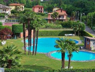 Top SEEBLICK Pool Strand 2 Balkone 2 Zi. Fewo Lago Maggiore Tennis WLAN Garage