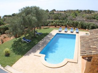 Beautiful, quiet Seascape Cottage, 6-7 persons, pool in Cala S`Almonia, close t