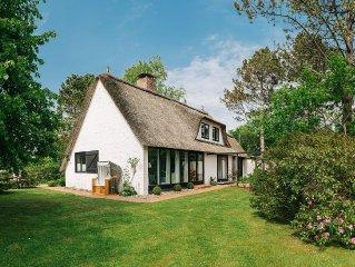 Luxus in Ording -  Einzelhaus unter Reet mit großem Garten - 15 Geh-Min.z Strand